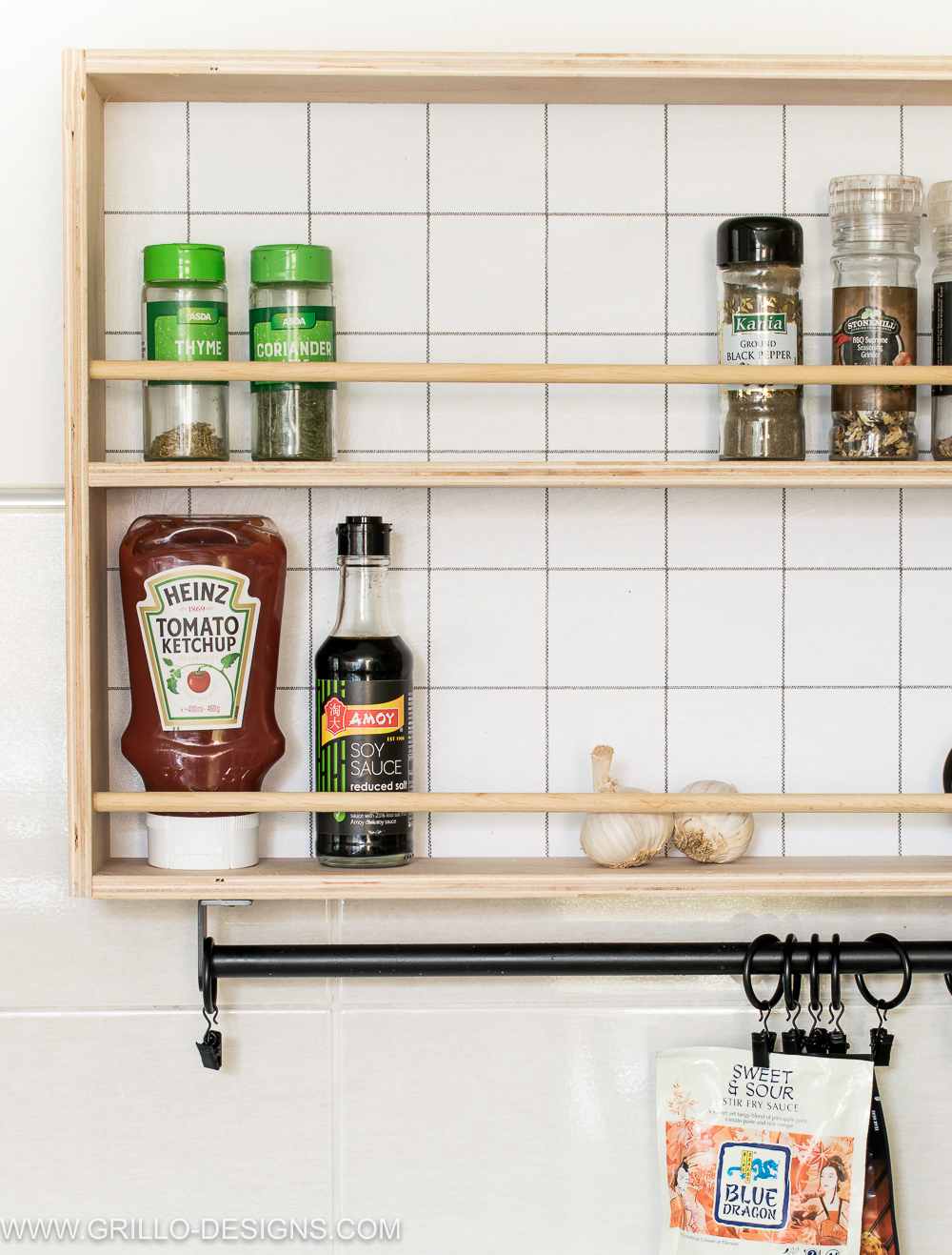 How To Build A Hanging Spice Rack And A Ryobi Giveaway Grillo Designs