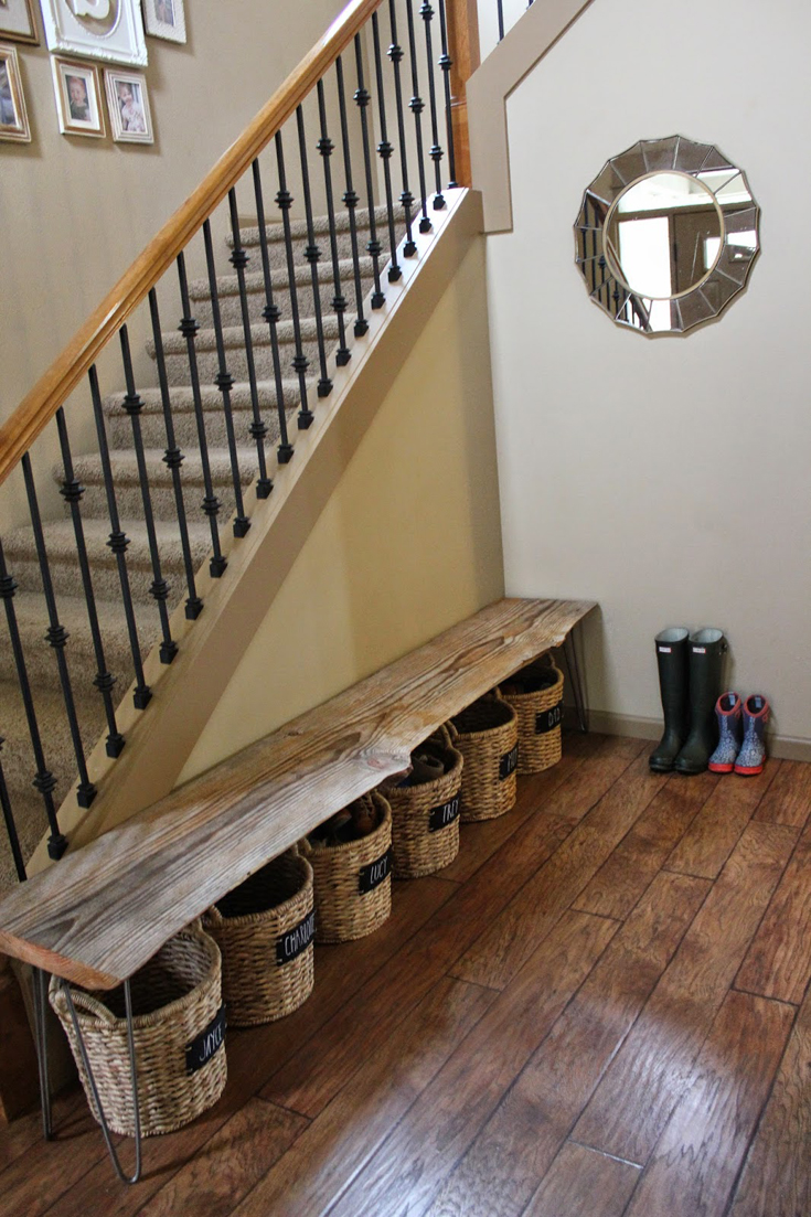 Clever Entryway Diy Shoe Storage Idea Using Baskets Grillo Designs Www