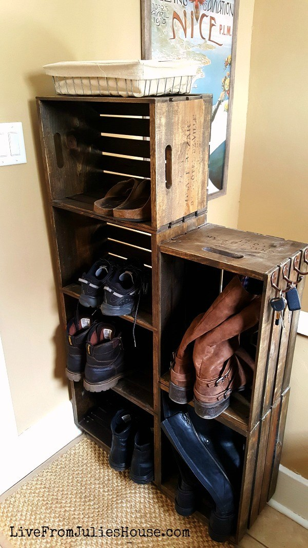 Farmhouse Style Wooden Crates Diy Storage Ideas / Grillo Designs  Www.grillo Designs.