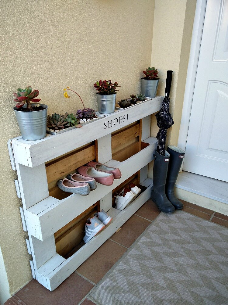Superieur Diy Shoe Storage Ideas Using A Pallet / Grillo Designs Www.grillo Designs.