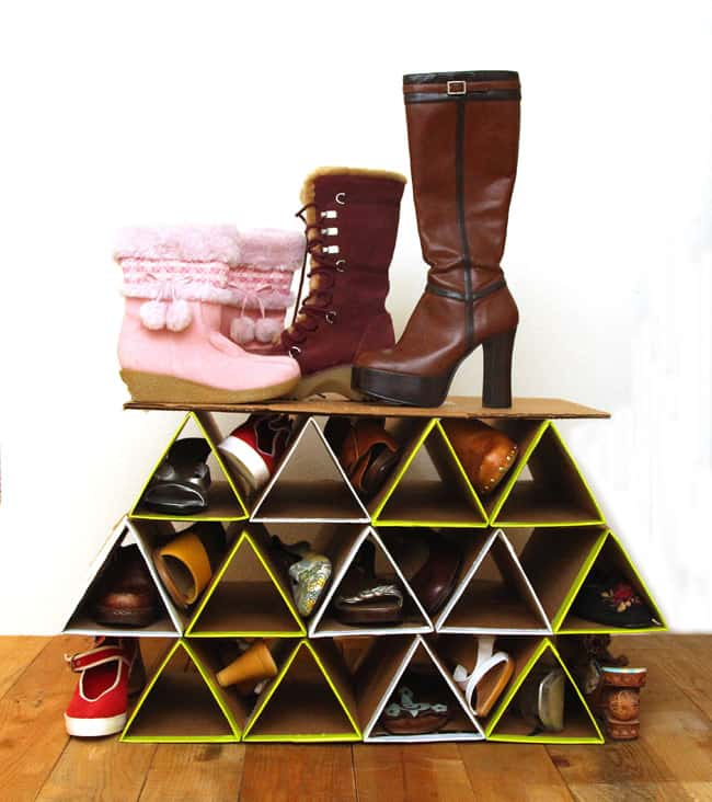 Super Space saving DIY Shoe Rack