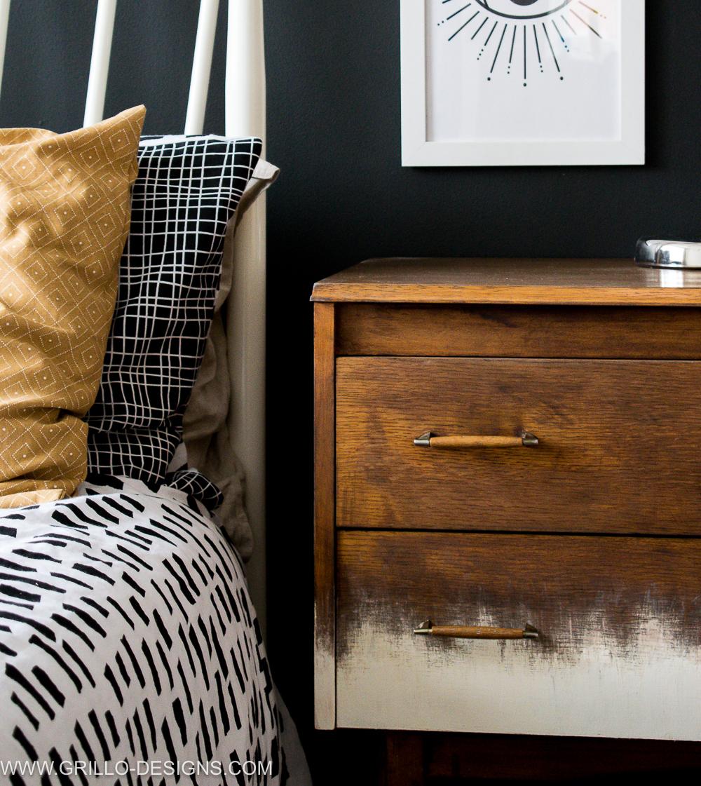 Rustic modern mid century dresser makeover / Grillo Designs www.grillo-designs.com