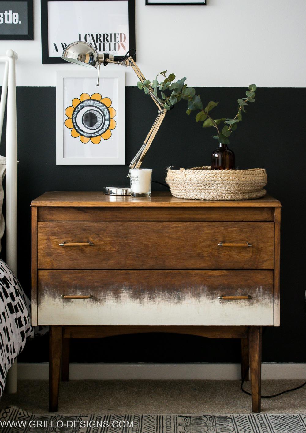 Modern style mid century dresser makeover/ Grillo Designs www.grillo-designs.com