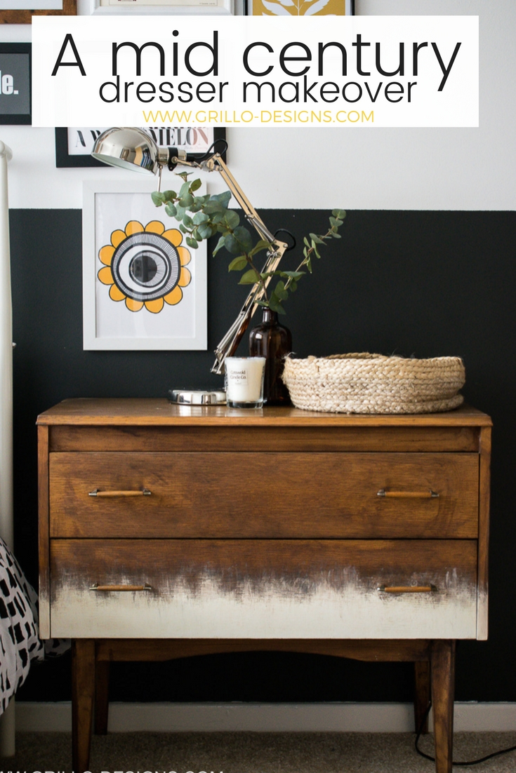 A Mid Century Dresser Makeover Tutorial  – In 5 easy Steps!