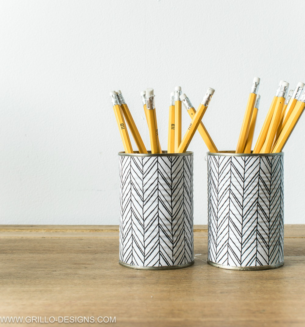Fabric Covered Diy Pencil Holder / Grillo Designs