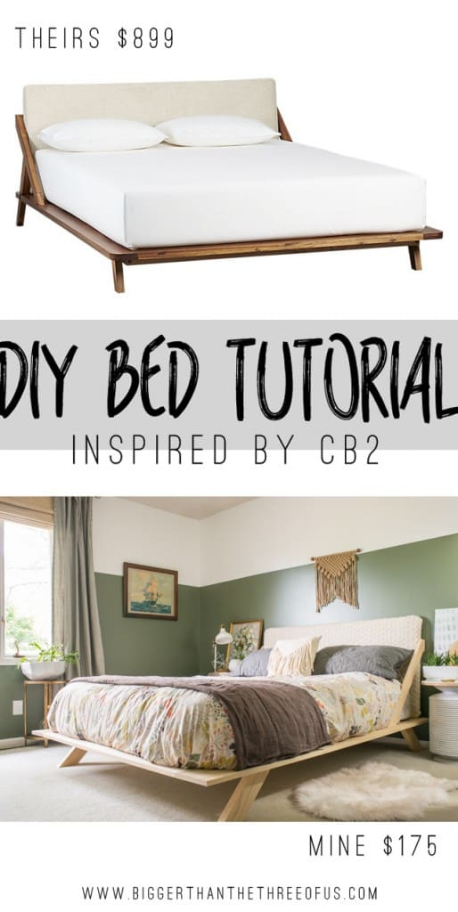 CB2 Inspired DIY Mid-Century Modern Bed Tutorial
