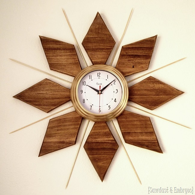 DIY Mid-Century furniture Clock Tutorial