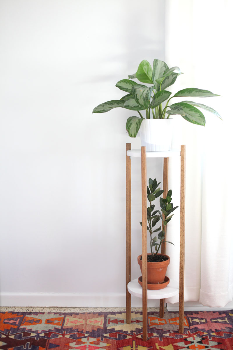 DIY Mid-Century Inspired Plant Stand