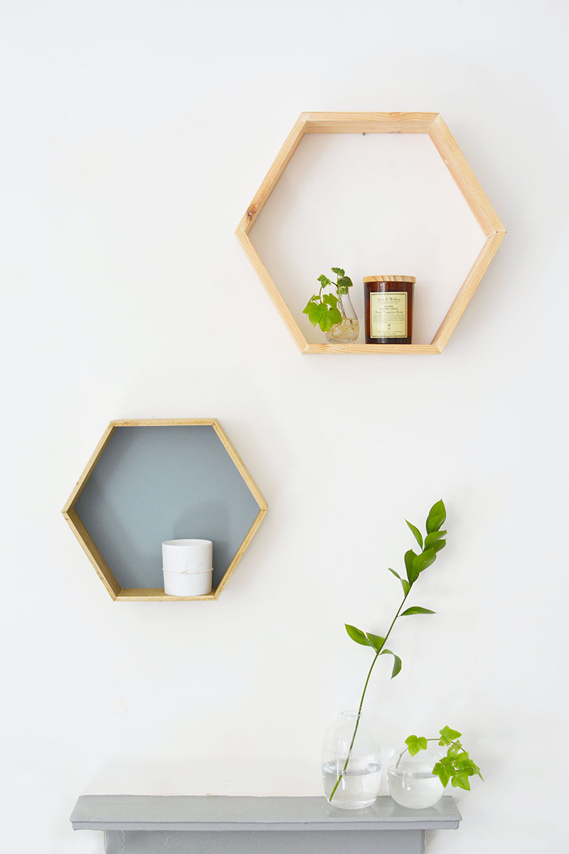 DIY Mid-Century furniture Modern Honeycomb Shelves