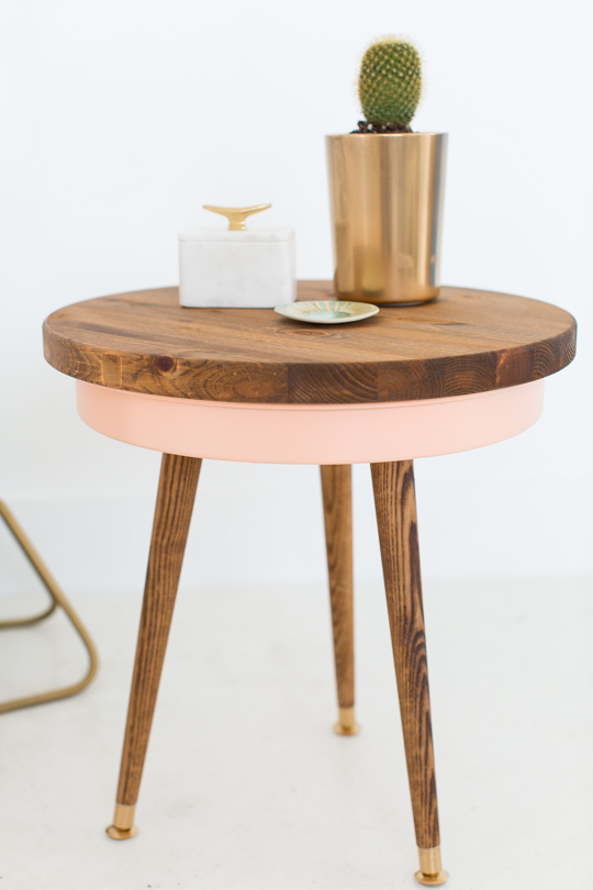 DIY Mid-Century Side Table via SUgar and cloth