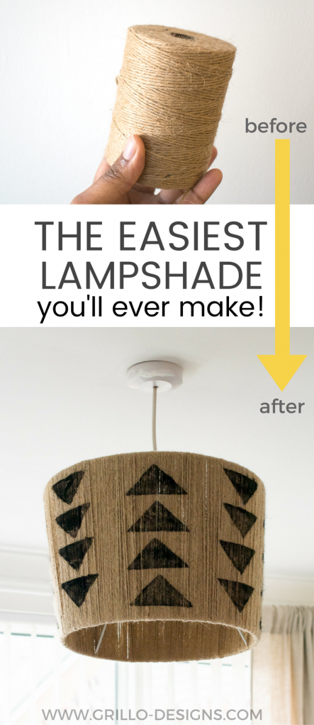 This DIY jute lampshade is a great way to add some rustic charm to your home! It requires a little patience but as far as making your own lampshades goes, this is pretty simple!   / grillo Designs