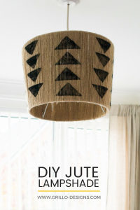 Small bedroom makeover diy project : Rustic stamped lamp / grillo designs www.grillo-designs.com