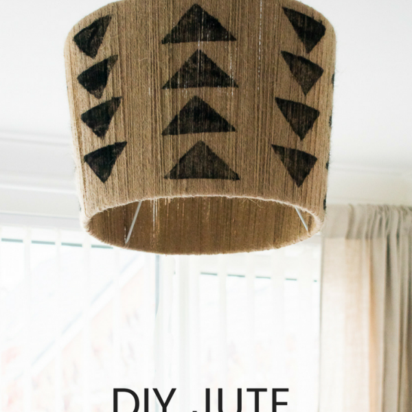 TRIBAL DIY JUTE LAMPSHADE GRILLO DESIGNS