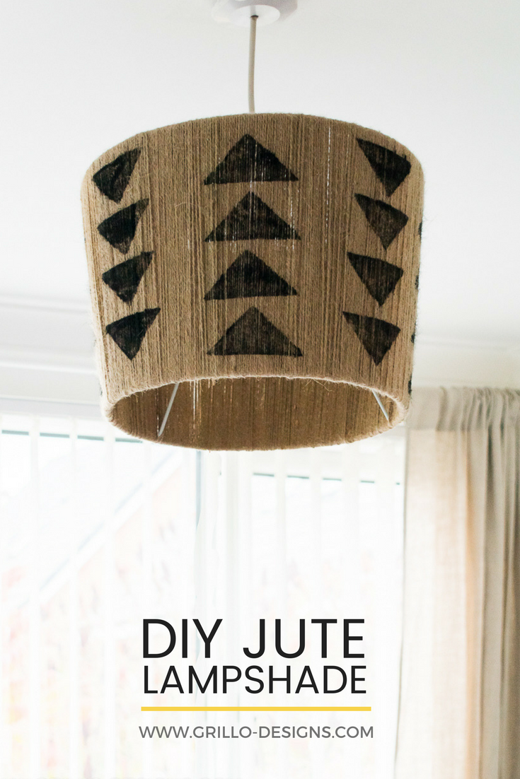 The easiest diy jute lampshade you 39 ll ever make grillo for Diy jute