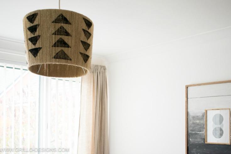 Rustic diy jute lampshade pendant / Grillo Designs