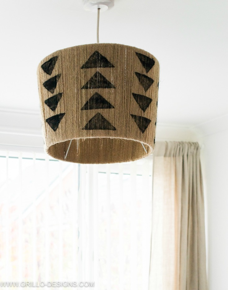 Hanging diy jute lampshade / Grillo Designs
