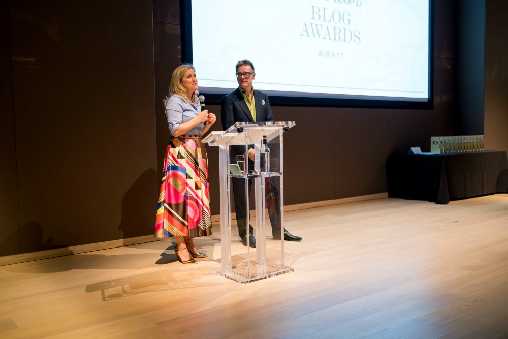 Sophie Robinson and Daniel Hopwood at the interior blog awards 2017 / Grillo Designs