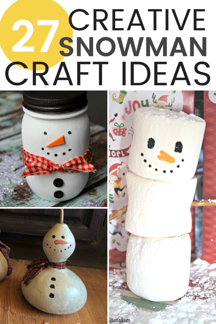 DIY snowman decorations are not only fun to make, but they are also an easy way to brighten up your house during a wintry month! / GRILLO DESIGNS