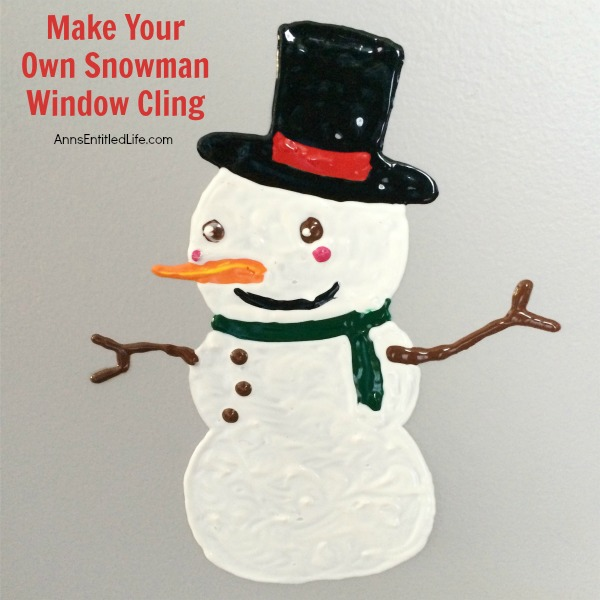 DIY Window Cling Snowman / DIY Snowman Decorations / Grillo Designs www.grillo-designs.com