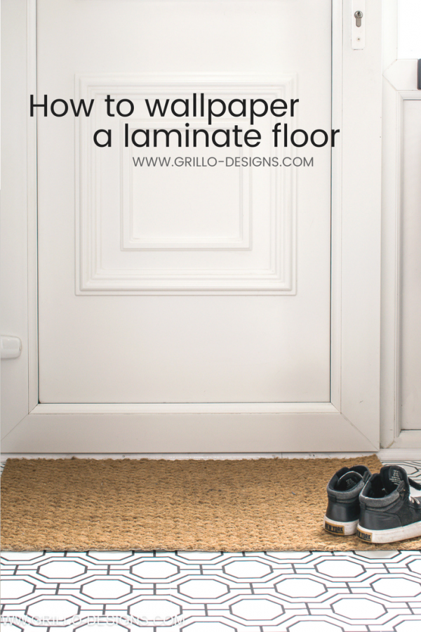 How to wallpaper a laminate floor