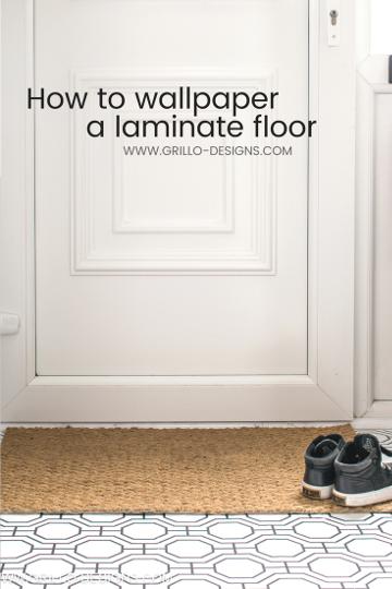How to Wallpaper A Floor –  a renter-friendly alternative!