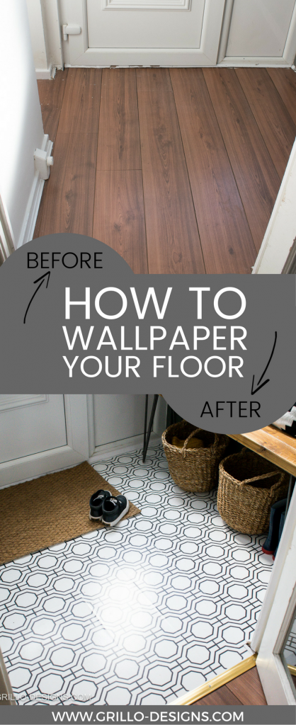 How To Wallpaper A Floor A Renter Friendly Alternative Grillo