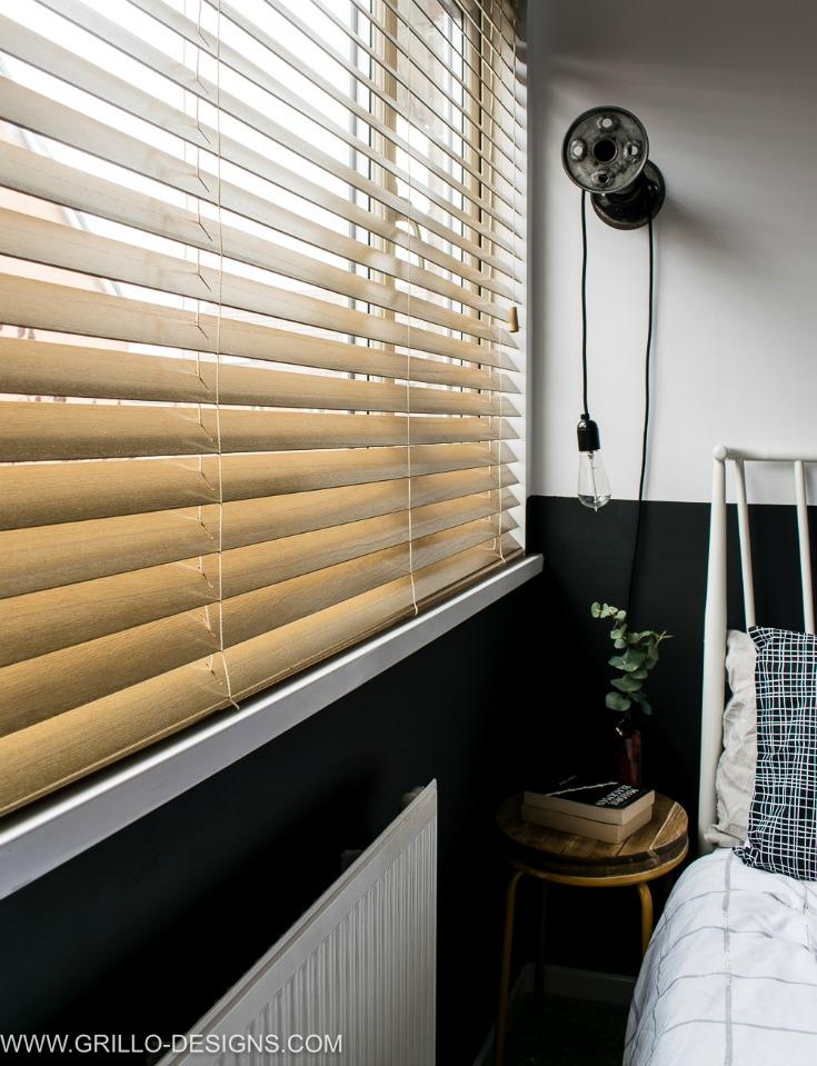 nordic eclectic style small bedroom makeover / grillo designs www.grillo-designs.com