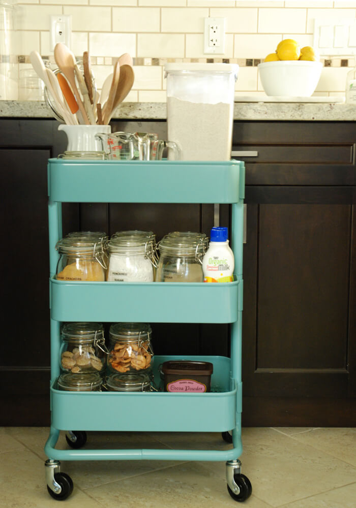 Baking Cart Storage IKEA Kitchen Hack / Grillo Designs