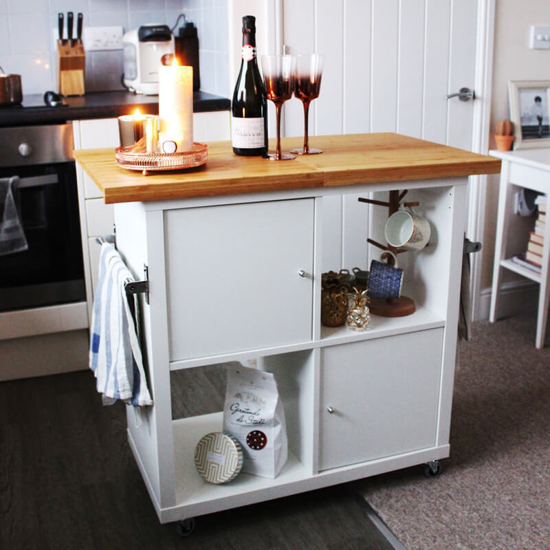 diy ikea kitchen hacks using the ikea kallax shelf / Grillo Designs