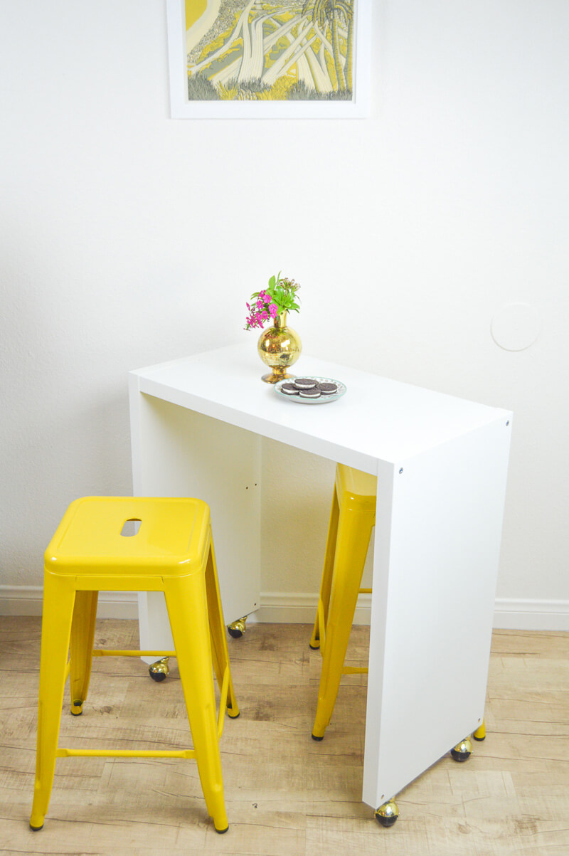 IKEA Hack DIY Rolling Kitchen Island | Grillo Designs