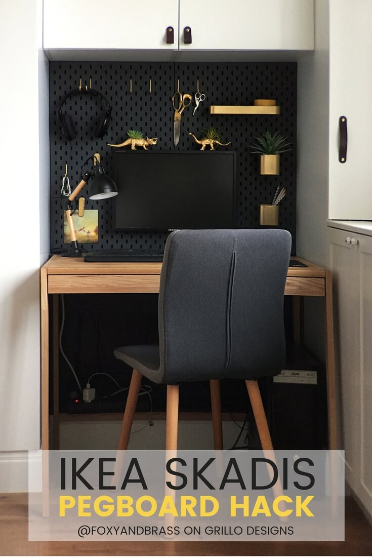 Ikea Skadis Hack For A Mini Office Nook Grillo Designs