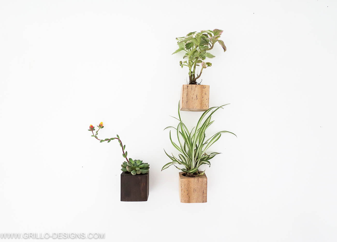 How to make diy magnet planters / Grillo Designs