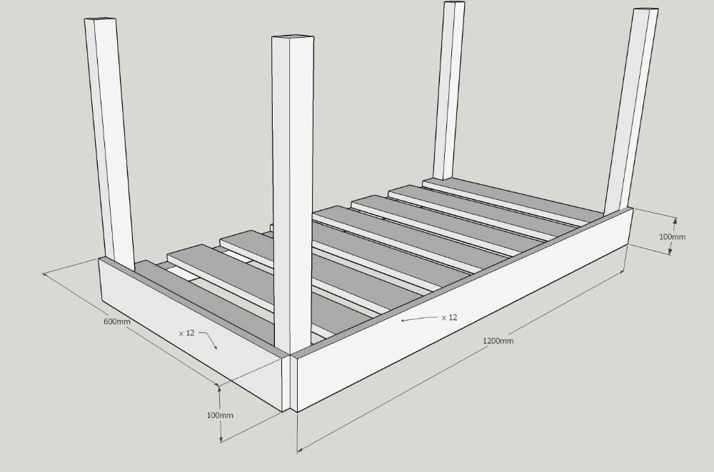 plans for diy trough planter / grillo designs