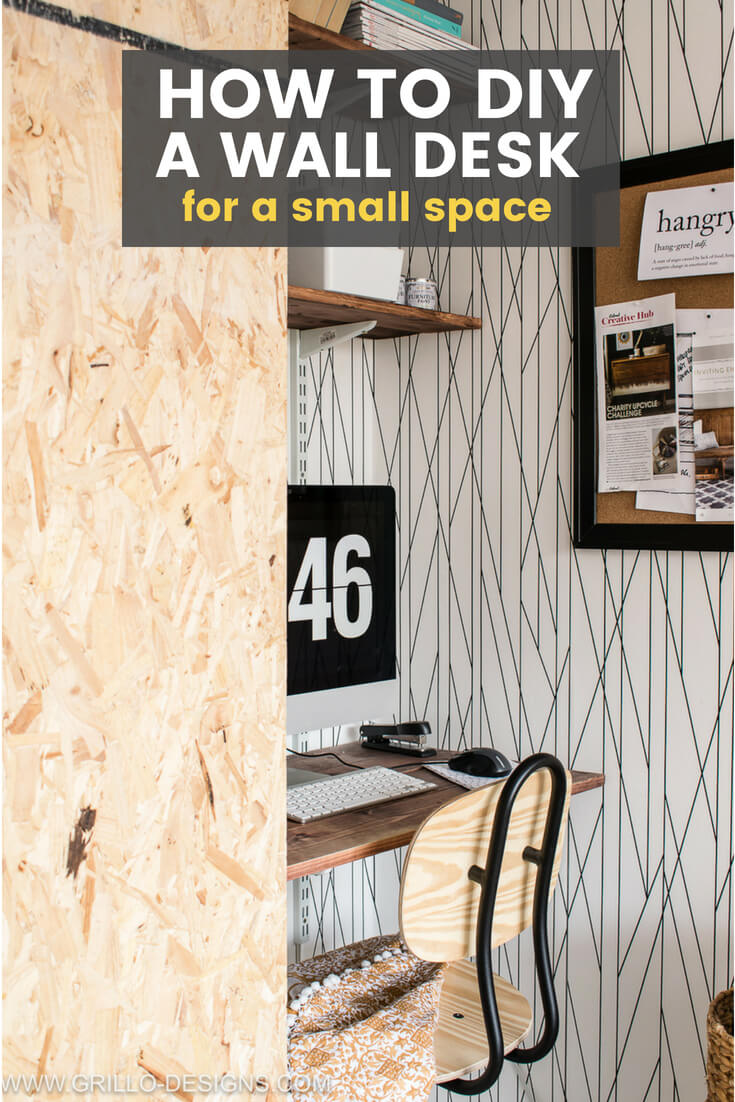How To Create A Floating Wall Desk In A Small Space Grillo Designs