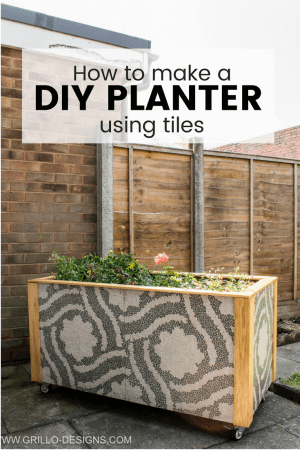 Rolling planter for the garden made from tiles