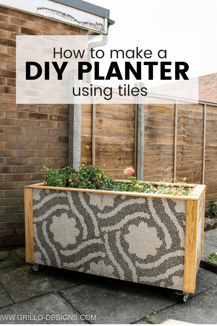 Diy Trough Planter Box Using Tiles Grillo Designs