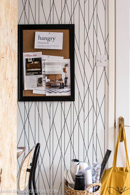 Space saving floating wall desk idea / grillo designs