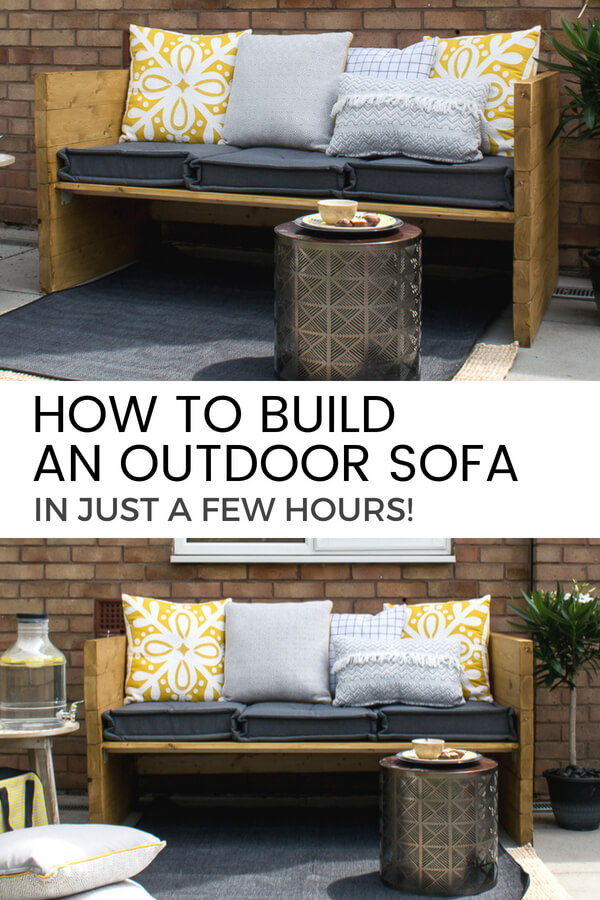Learn How To Build A Rustic Style Two Seater Outdoor Sofa Chair For Your  Garden (