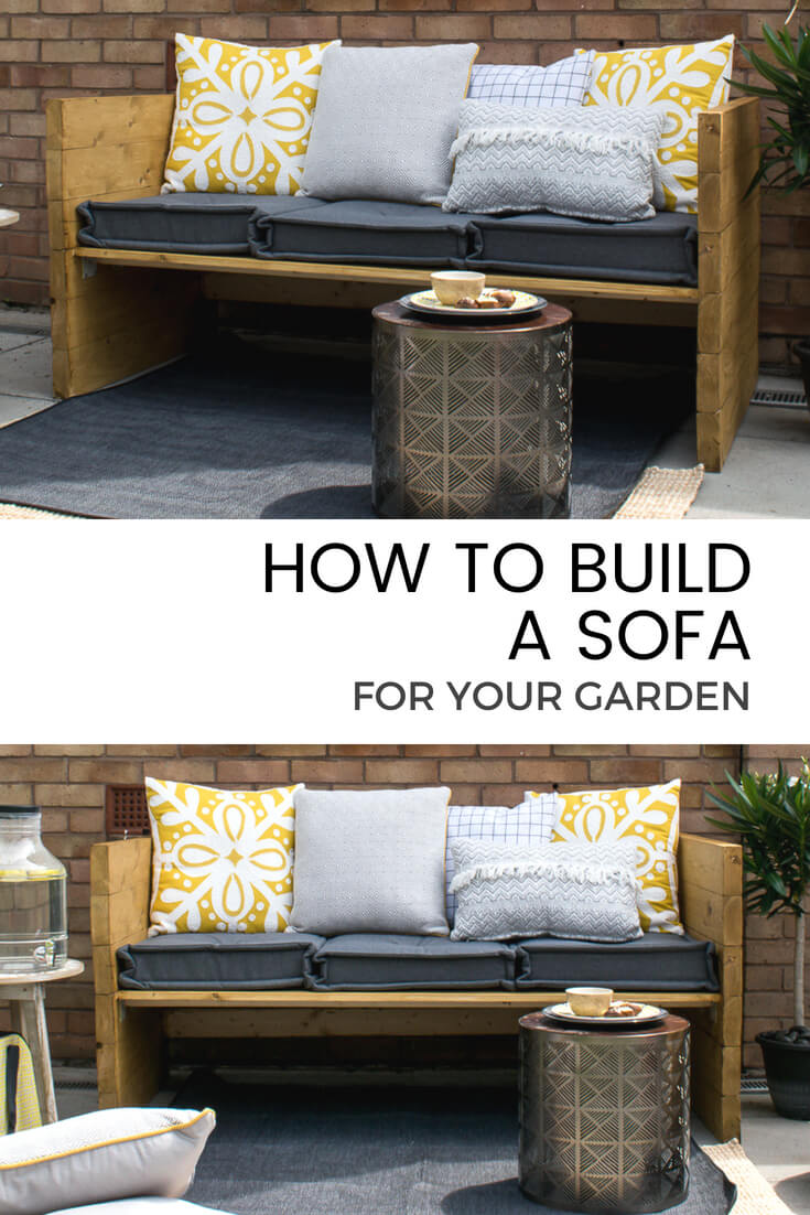 Learn How To Build A Rustic Style Two Seater Outdoor Sofa For Your Garden  (with