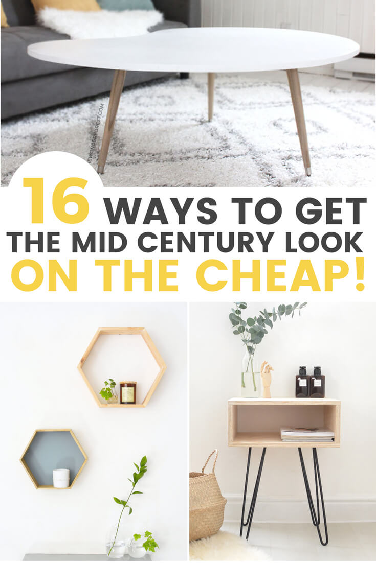 16 Affordable Diy Mid Century Furniture Ideas That Will