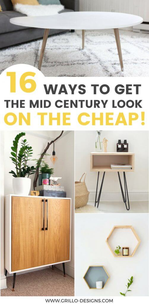 These DIY Mid-Century furniture ideas are a great way to add style to your home without breaking the bank!