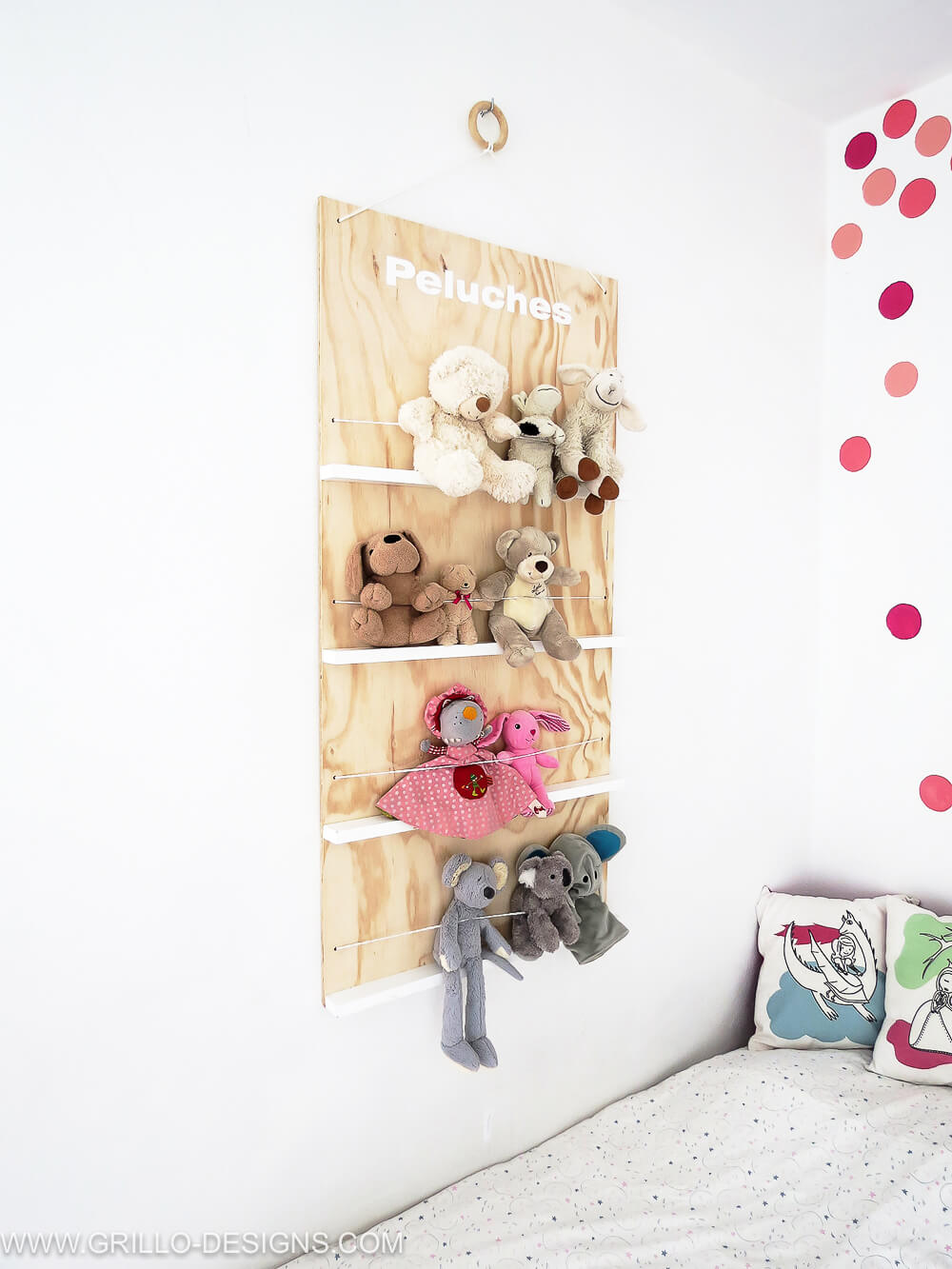 How To Make A Soft Toy Storage Shelf No More Mess Grillo Designs