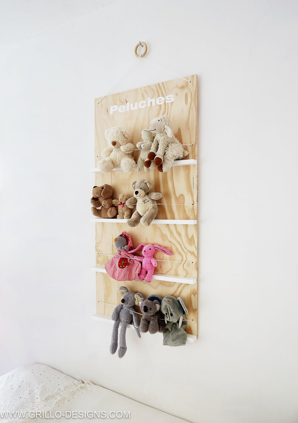 How To Make A Soft Toy Storage Shelf No More Mess