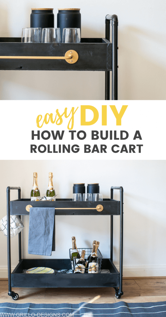 How to build a rolling bar cart for indoors / grillo designs