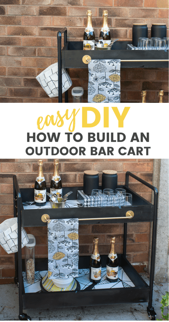 How to create a diy outdoors rolling bar cart / grillo designs