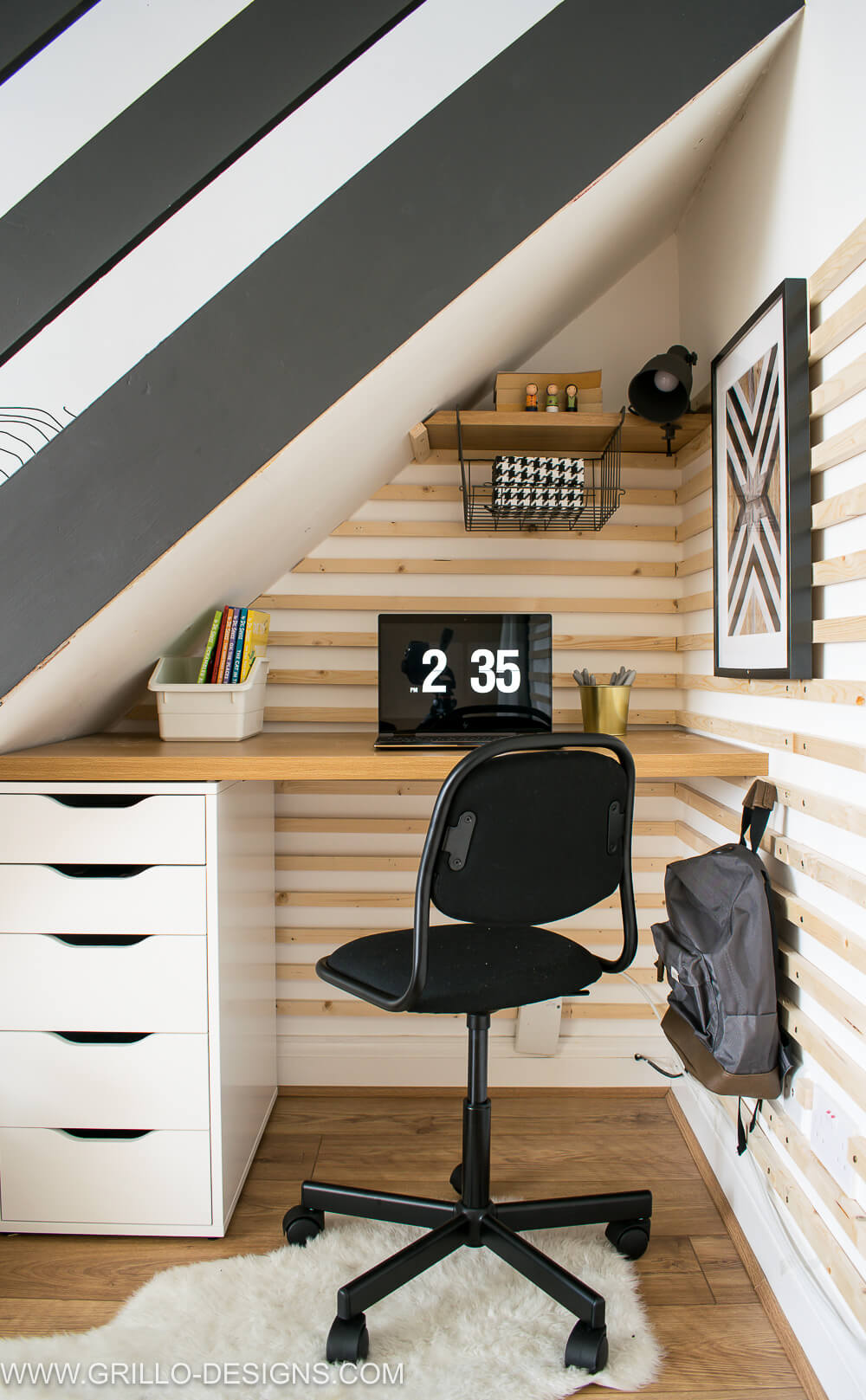 Make a diy under stairs homework station with ikea furniture / grillo designs