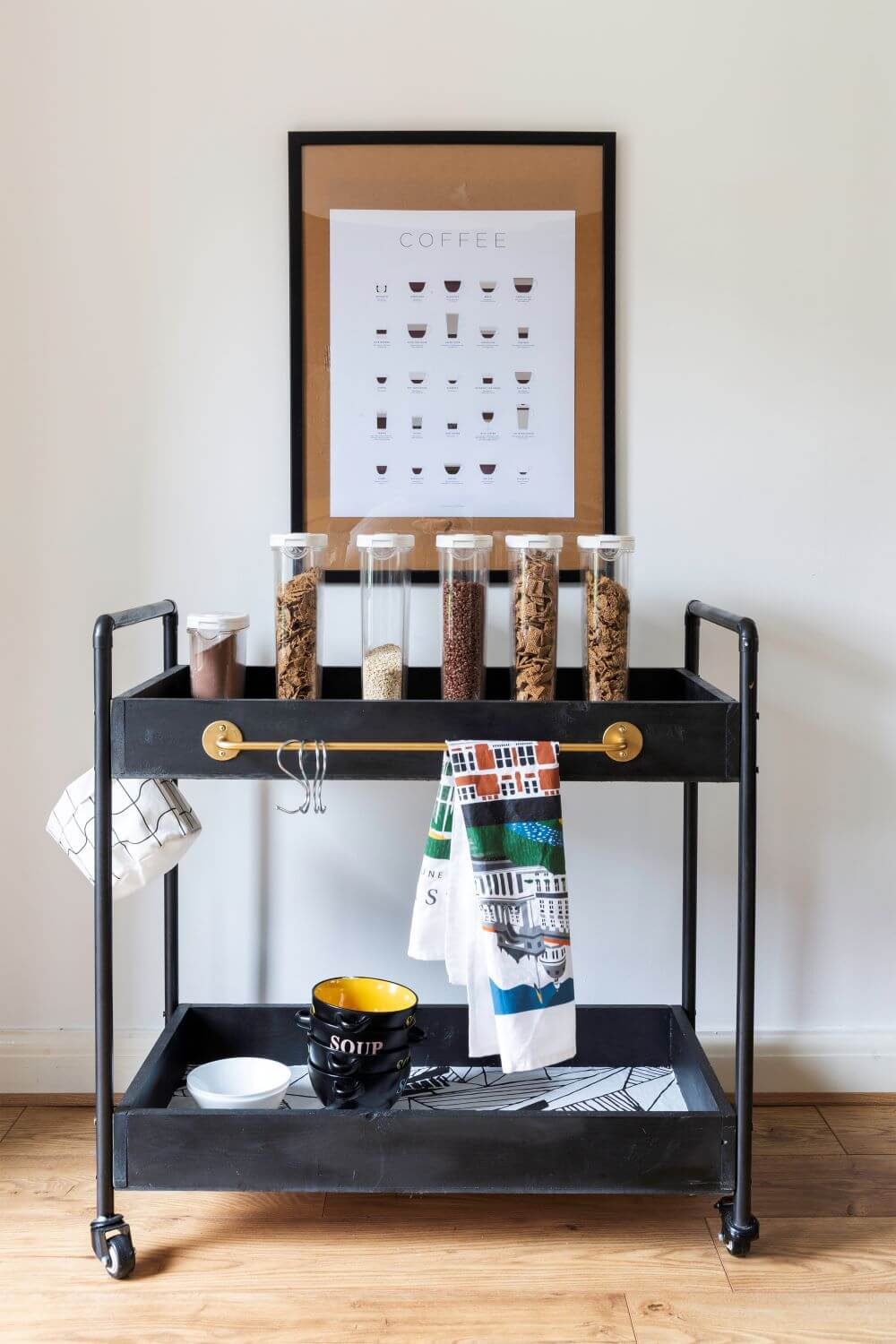 Easy Diy How To Build A Rolling Bar Cart With Rust Oleum