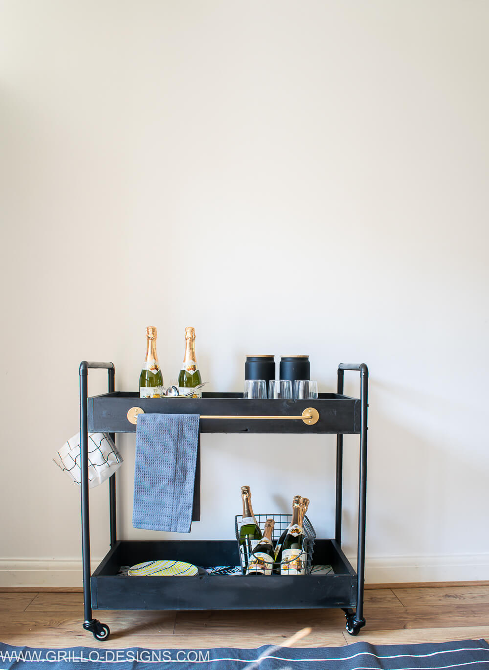 How to style a rolling bar cart / grillo designs