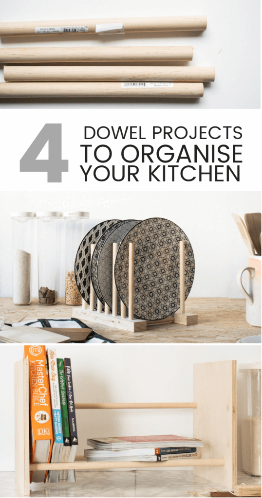 Not only are wooden dowels really cheap to buy, but they are also very versatile, making them the ideal base material for simple crafting or DIY projects. Here are 4 creative ways you can use wooden dowels in your kitchen.