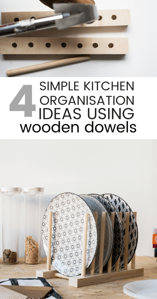 Here are 4 creative ways you can use wooden dowels to organise your kitchen / grillo designs